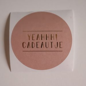 Sticker - Yeah cadeautje