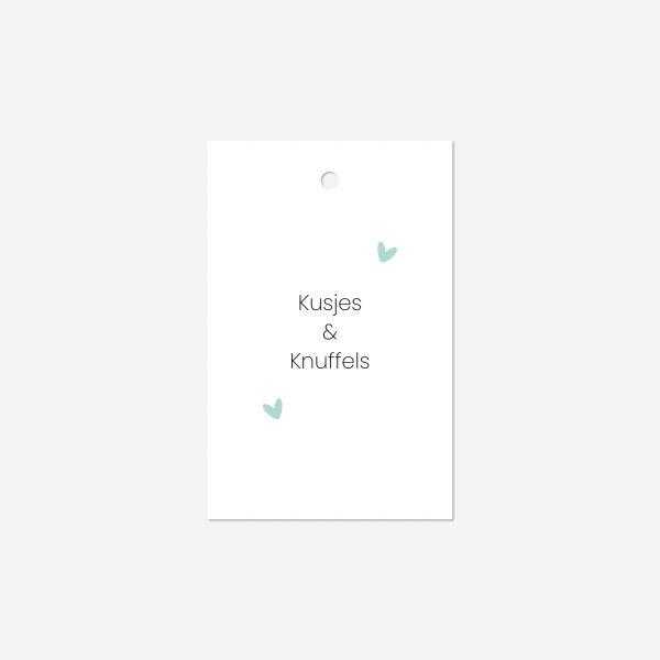 Cadeaulabel | Kusjes en knuffels