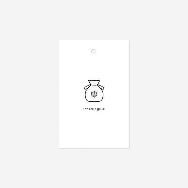 Cadeaulabel | Zakje geluk